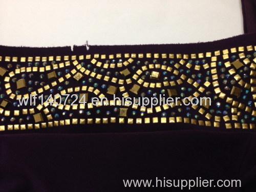 311gold hot-fix heat transfer rhinestone motif design