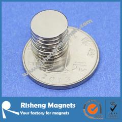 Neodym Magnet N42 D12 x 1.5mm Round Magnet three layer plated