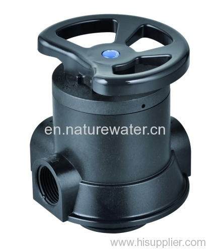 Manual control valve of water softener