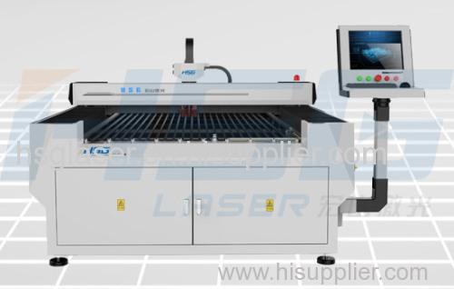 Medium Power 300/500W metal fiber laser cutting machine cut stainless and mild steel HS-F1325