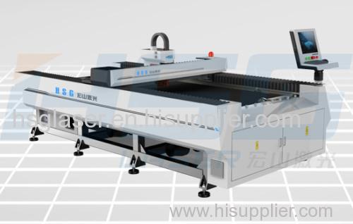 Medium Power 300/500W metal fiber laser cutting machine cut stainless and mild steel