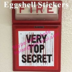 Custom High Adhesion Eggshell Stickers
