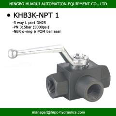 BK3-NPT1 DN 20mm 5000psi 3 way hydac standard high pressure ball valves manufacturer