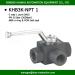 BK3-NPT1 DN 20mm 5000psi 3 way hydac standard high pressure ball valves manufacturer