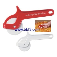 Promotional eco-friendly plastic pizza cutter with printing