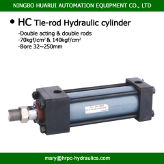 double acting hydraulic oil cylinders with tie-rod apperance