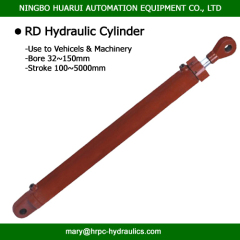 round type double acting hydraulic oil cylinders for machiney and vehicle