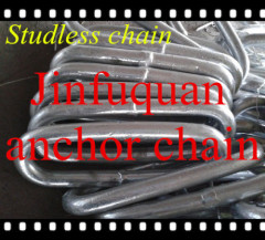 DIN 763 long studless chain link