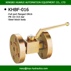 high pressure two way flangd manual type oilfield hydraulic ball valves dn16