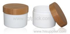 ボディバターボトルパーソナルケア化粧品パッケージ250グラムPP瓶と竹キャップクリームジャー
