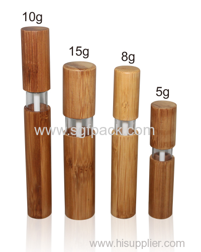 Bamboo Makeup Brushes: Bamboo Lip Gloss Tube Natural Package Cosmetic Container