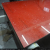 Red Artificial Quartz Stone Slabs For Table Top 12 - 30 mm Thickness