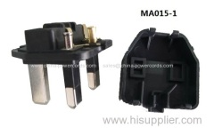 UK electrical plug pins with 13A fuse