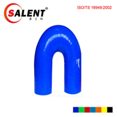 """SALENT 7/8""""(22mm) High Temp Reinforced 180 Degree Elbow Coupler Silicone Hose"""