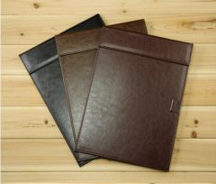 A5 PU leather magnetic signature pad folder