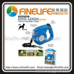 High quality Automatic Retractable Pet Dog Leash With LED Light