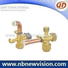Three Way Air Conditioning Valves for Brass Flare Nut & Plastic Nut