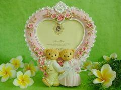 fashion / teddy bear / resin photo frame