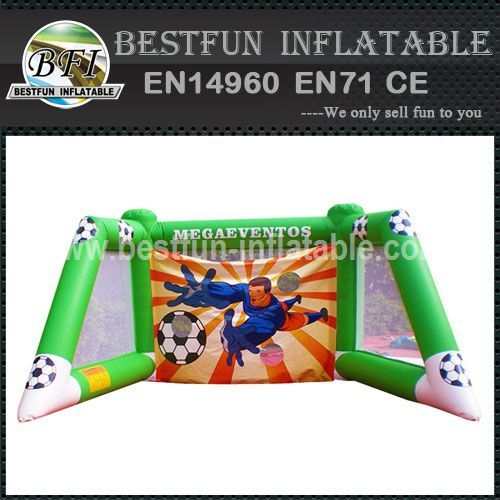 ISOLATED INFLATABLE FOOTBALL GATE