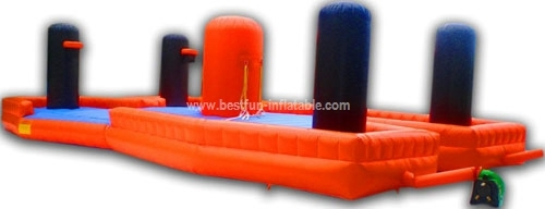 Bungee run basketball inflatable challenge games