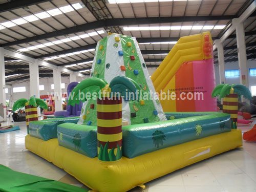 Exciting outdoor inflatable climbing wall