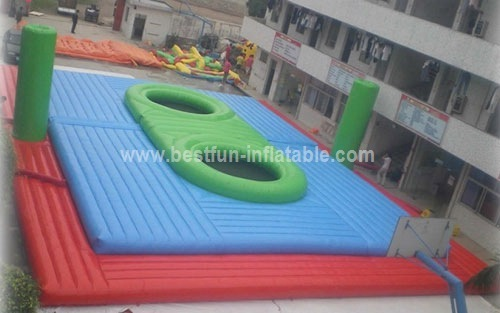 Giant durable inflatable Bossaball court