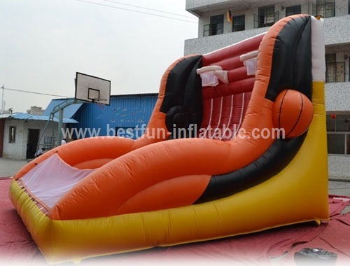 Inflatable basketball shooting hoops