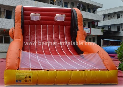 Inflatable basketball shooting hoops
