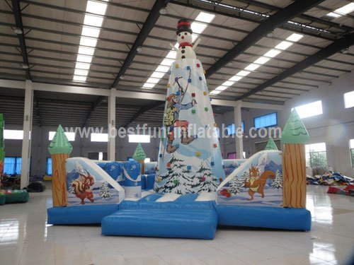 Inflatable climbing iceberg wall