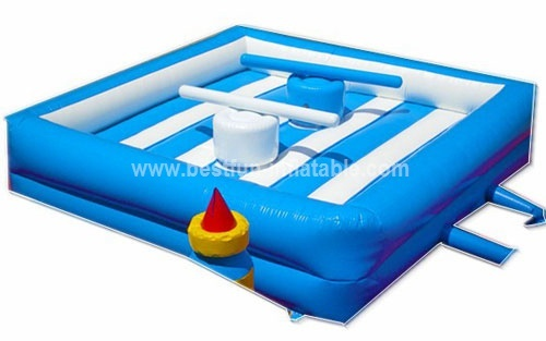 Inflatable gladiator jousting ring