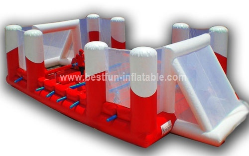 Inflatable human table football field