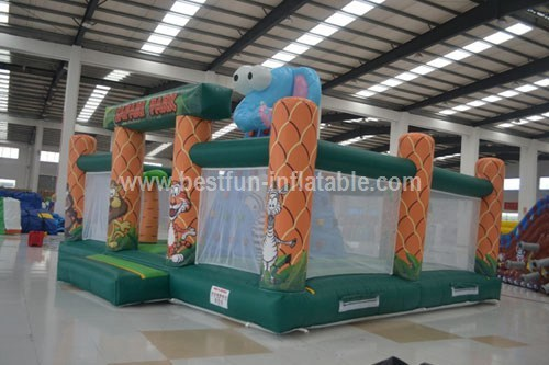 Inflatable sport game jungle climbing wall