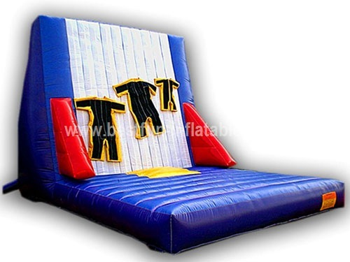 Inflatable velcro jump & stick wall