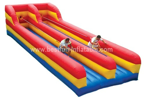 Sport game inflatable bungee run jump