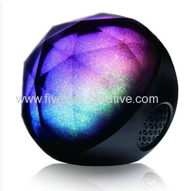 New Magic Wireless Colorful Crystal Ball Luminous Portable Bluetooth Stereo Speakers