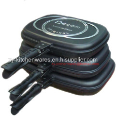 Dessini 32-36-40cm Cheap energy saving non stick 32cm double fry pan aluminum cast