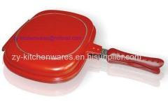 36cm Cheap energy saving non stick double fry pan aluminum cast