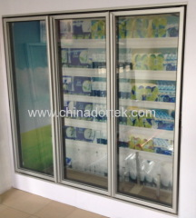 Vertical Glass Freezer Doors with LED lights