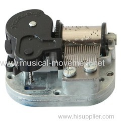 CENTER WINDING UP MUSIC BOX MOVEMENT STANDARD 18 NOTE