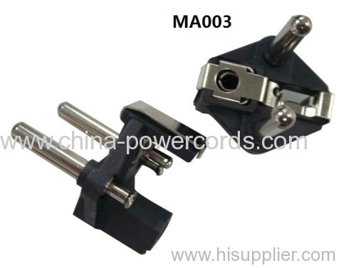 French electrical plug inserts with VDE approval