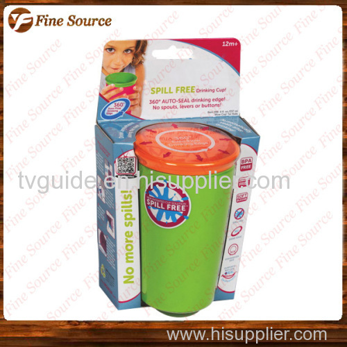 2014 New spill free Hot SALES wow cup kids drinking cup