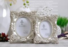 resin / oblong / luxurious photo frame