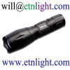 Flashlight 1x18650 Cell Batt Anodized Aluminum Telescopic Focusing Lens Cree XPE R2 LED Bulb 4Modes Tail Switch