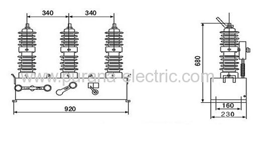 12kv outdoor high voltage alternating current vacuum
