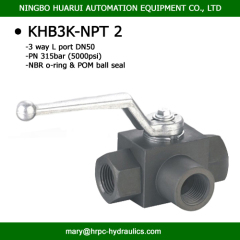 BK3-NPT2 hydac standard 2 inch high pressure NPT female thread 3-way ball valves made in China