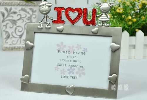 metal / baby / oblong photo frame