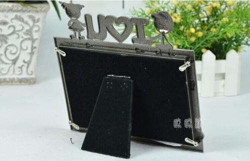 european / baby / metal / oblong photo frame