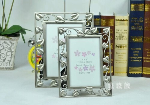 oblong / countryside/ metal / marriage photo frame