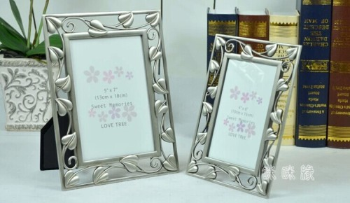 villager / european / metal / oblong / marriage photo frame