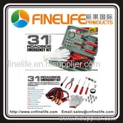 31 pcs roadside car breakdown repair tool Kit as seen on TV